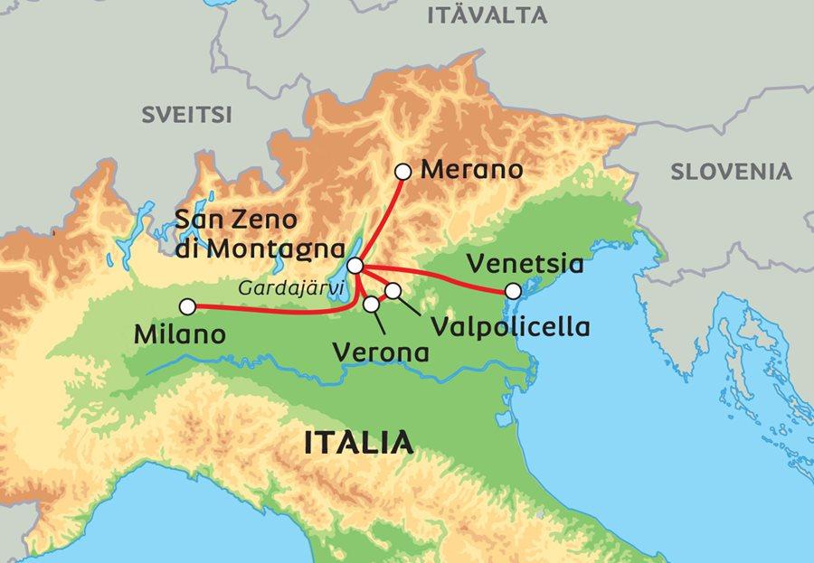 Pohjois Italia